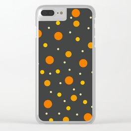 Classic Retro Dots 12 Clear iPhone Case
