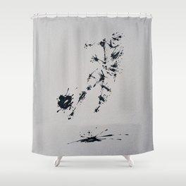 Splaaash Series - Ball Hater Ink Shower Curtain