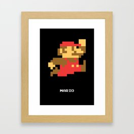 Lab No.4 -Mario Video Game Quotes,Poster Framed Art Print