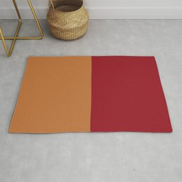 rusty orange and red Rug