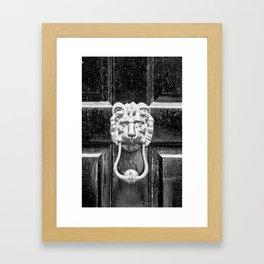 The black door Framed Art Print