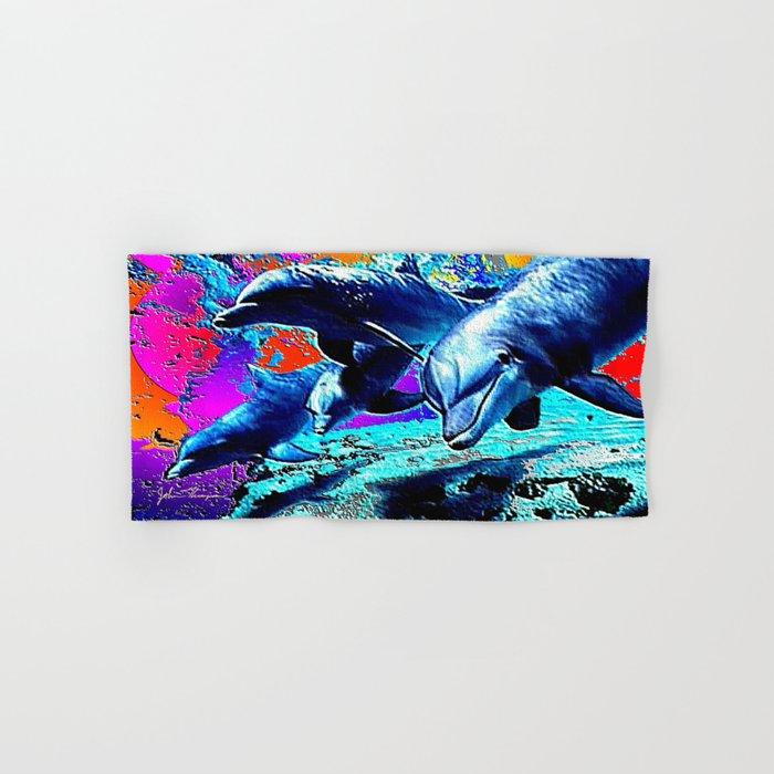 Dolphins 3 Hand & Bath Towel