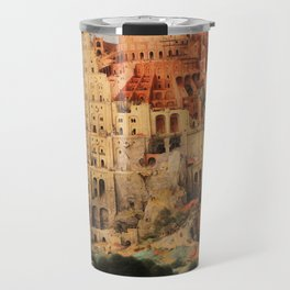 The Tower of Babel by Pieter Bruegel the Elder Travel Mug