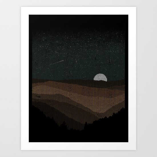 Moonrise (Sepia) Art Print