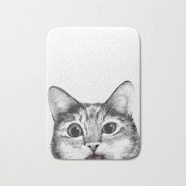 silly cat Bath Mat