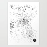 dublin Art Prints featuring DUBLIN by Maps Factory