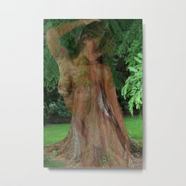 A Woman as Strong as a Tree: Metal Print