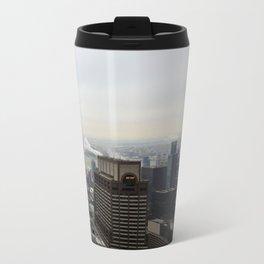NYC West Side Panorama with Hudson River Travel Mug