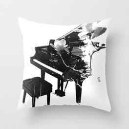 Concerto Of Flowers Throw Pillow