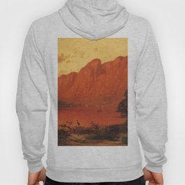 Profile Peakk From Profile Lake New Hampshire 1869 By Thomas Hill | Reproduction Hoody