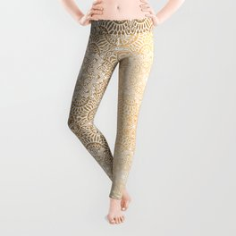 Gold Mandala 18 Leggings