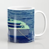 boat Mugs featuring boat by gzm_guvenc
