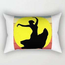 Flamenco Dancer Retro Rectangular Pillow
