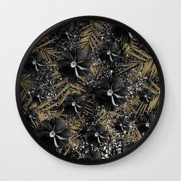 Tropical Diamond Flowers #2 #shiny #chic #floral #palms #decor #art #society6 Wall Clock
