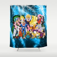 dbz Shower Curtains featuring DBZ - Buu Saga by Mr. Stonebanks