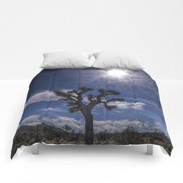 Joshua Tree and Sunshine in Joshua Tree National Park California Comforters