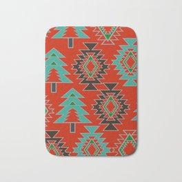 Navajo with pine trees Bath Mat