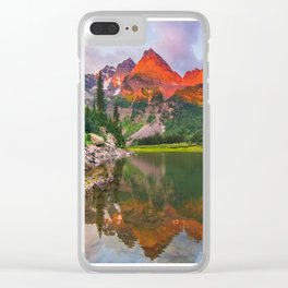 Rocky Mountain Glow Clear iPhone Case
