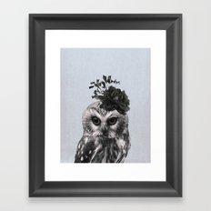 Portrait of Owl Framed Art Print
