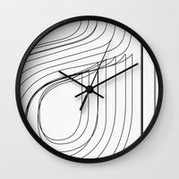 helvetica Wall Clocks featuring Helvetica Condensed 002 by INDUR