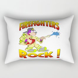 FIRE FIGHTERS ROCK Vibrant Haltone Edition Rectangular Pillow