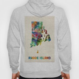 Rhode Island Watercolor Map Hoody