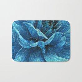 Big blue flower Bath Mat
