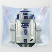 r2d2 Wall Tapestries featuring Lego R2D2 by Toys 'R' Art