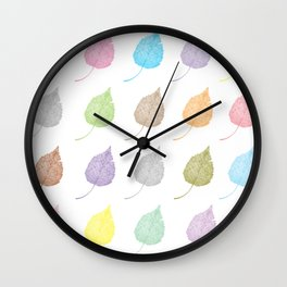 Colorful leaf pattern Wall Clock