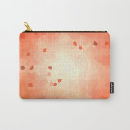 Red-orange mosaic abstraction Carry-All Pouch