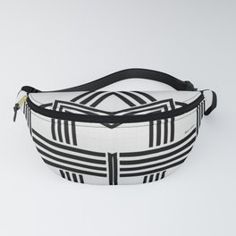 Black and White M Fanny Pack