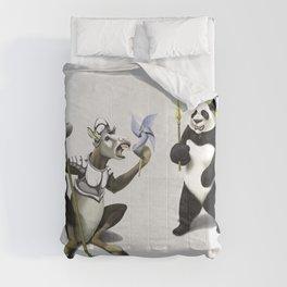 Donkey Xote and Sancho Panda (Wordless) Comforters