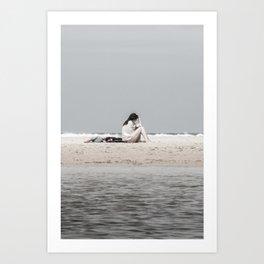 Silent voice of waves Art Print