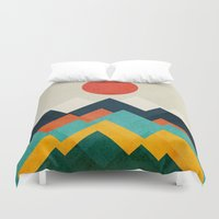 outdoor Duvet Covers featuring The hills are alive by Picomodi