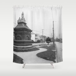 Gayarre Place, New Orleans 1900 Shower Curtain