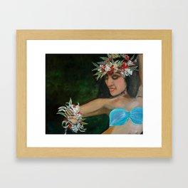 Tropical Hula Framed Art Print