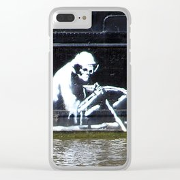 Banksy, On the Thekla Clear iPhone Case