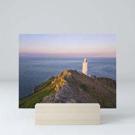 Startpoint Lighthouse, Devon, UK. Mini Art Print
