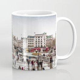 Trafalgar Square, London, at Christmas Coffee Mug