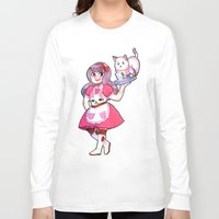 bee and puppycat Long Sleeve T-shirts featuring bee & puppycat by SERAPHIC ROYALTY