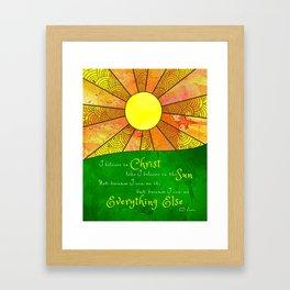 Christ like the Sun Framed Art Print