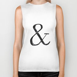Ampersand watercolor Biker Tank