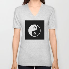 Ying yang the symbol of harmony and balance- good and evil Unisex V-Neck