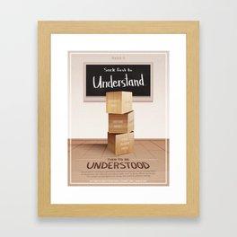 Habit 5 - Seek First To Understand, Then To Be Understood Framed Art Print