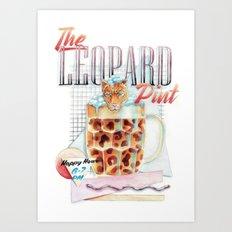 The Leopard Pint Art Print