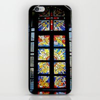 stained glass iPhone & iPod Skins featuring Stained Glass by Sean Foreman