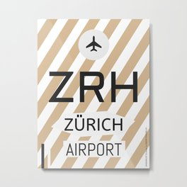 ZRH Alpine Chocolade Metal Print