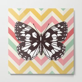 Colorful Butterfly Print - Buttefly Home Decor Metal Print