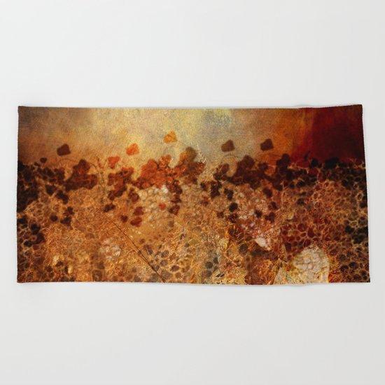 Autumn Melancholy Beach Towel