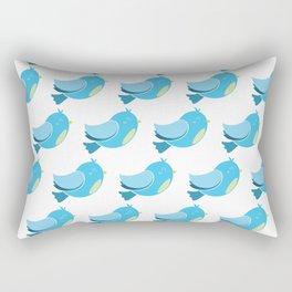 Blue Bird Pattern Rectangular Pillow